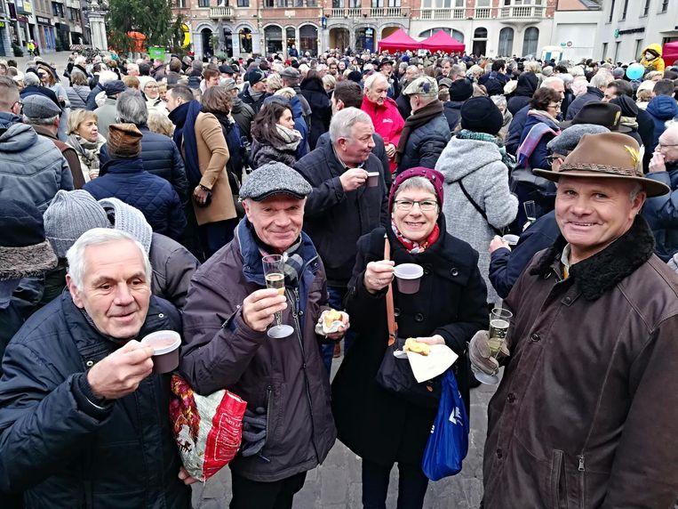 In Aarschot was er cava en chocomelk.