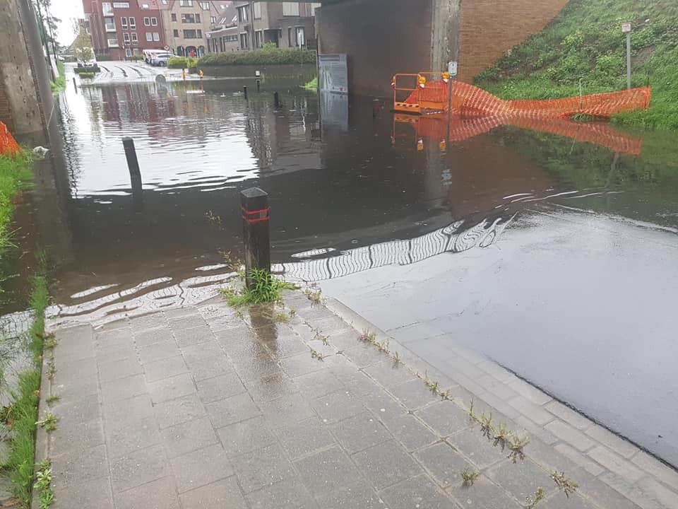 Ook in Torhout was er sprake van wateroverlast.
