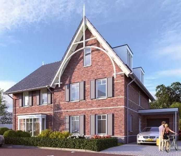 Sfeerimpressie van hoe een woning in De Siergrassen er mogelijk uit kan komen te zien.