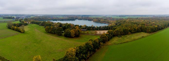 Het toekomstige Wijkevoort vanuit de lucht, gefotografeerd van de kant van de A58.
