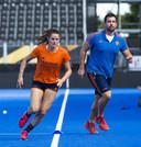 Lidewij Welten traint in aanloop naar de kwartfinale van het WK.