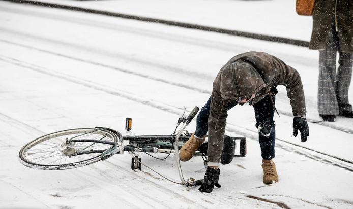 Rotterdam in de sneeuw.