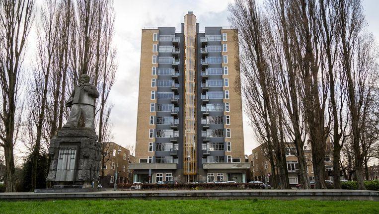De restauratie van de Wolkenkrabber is voltooid Beeld Tammy van Nerum