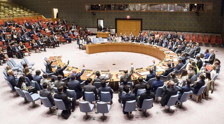 Een bijeenkomst VN-Veiligheidsraad.