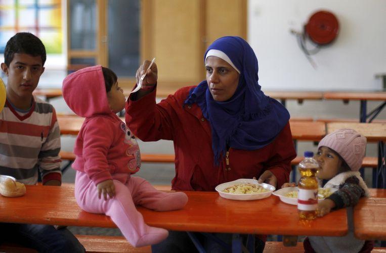Syrische vluchtelingen in Hamm, Duitsland. Beeld reuters