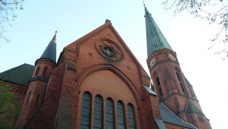 De evangelisch-lutherse St. Pauli-kerk in Hamburg. Beeld Wikimedia