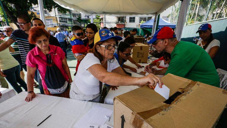 Meer dan 7 miljoen Venezolanen hebben hun stem uitgebracht tegen de grondwetsherziening van Maduro.