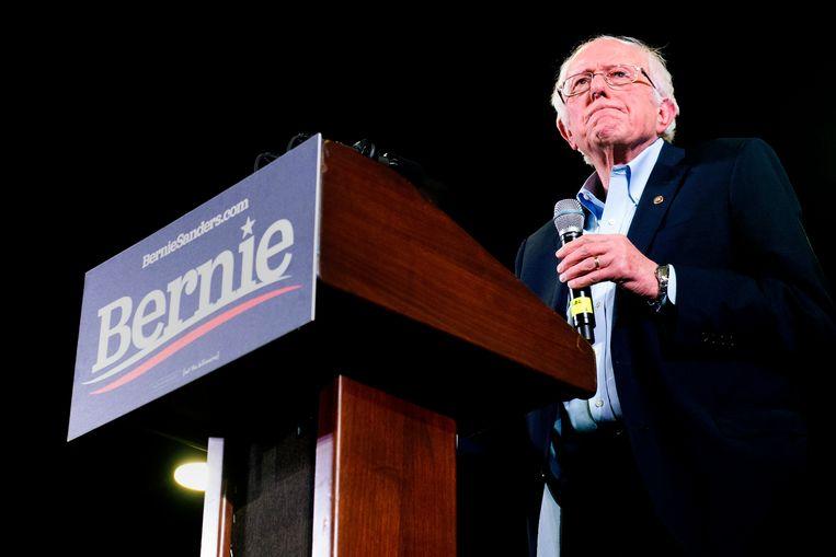 Bernie Sanders in Denver, Colorado in februari. Beeld AFP