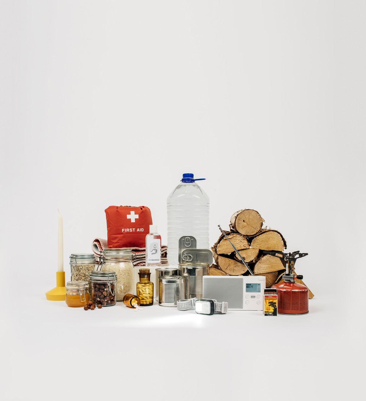 Het overlevingspakket wat nodig is volgens de Noren.  Voorbereiding is basis.