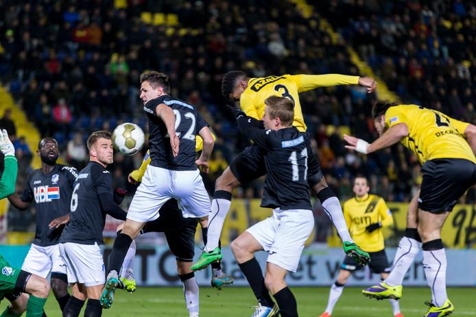 NAC - FC Eindhoevn afgelopen seizoen in de eerste divisie.
