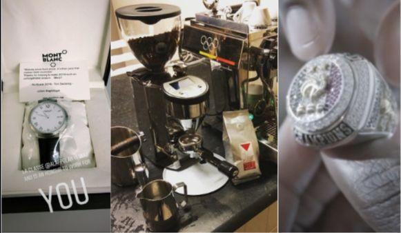Het horloge van Alaphilippe, het koffieapparaat van Van Avermaet en de ring van Pogba.