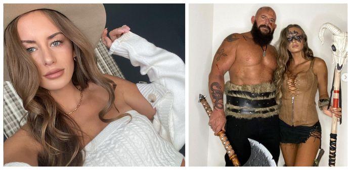 Het lichaam van de vermiste influencer Alexis Sharkey (26) is zaterdag aangetroffen in Houston. Foto rechts: Zij en echtgenoot Tom (49) verkleedden zich voor Halloween als vikings.