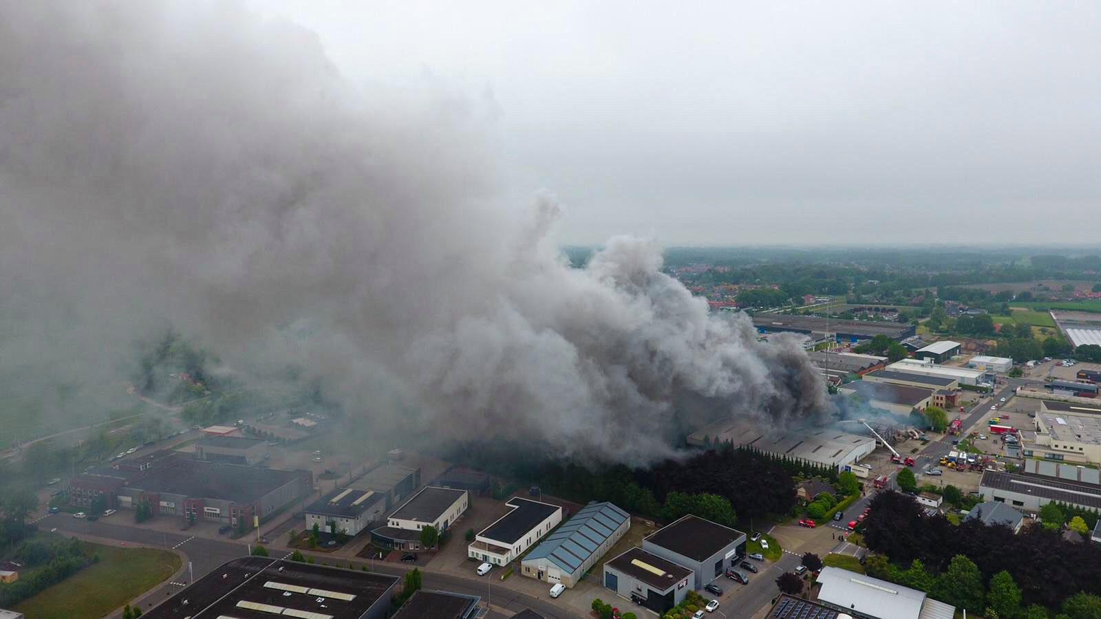 De brand in Vorden van boven.