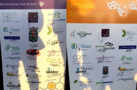 Alle partners van Bijenlandschap West-Brabant, bestaande uit achttien partijen waaronder gemeentes en bedrijven, zetten zich in voor de bijen. Foto Erik de Jonge