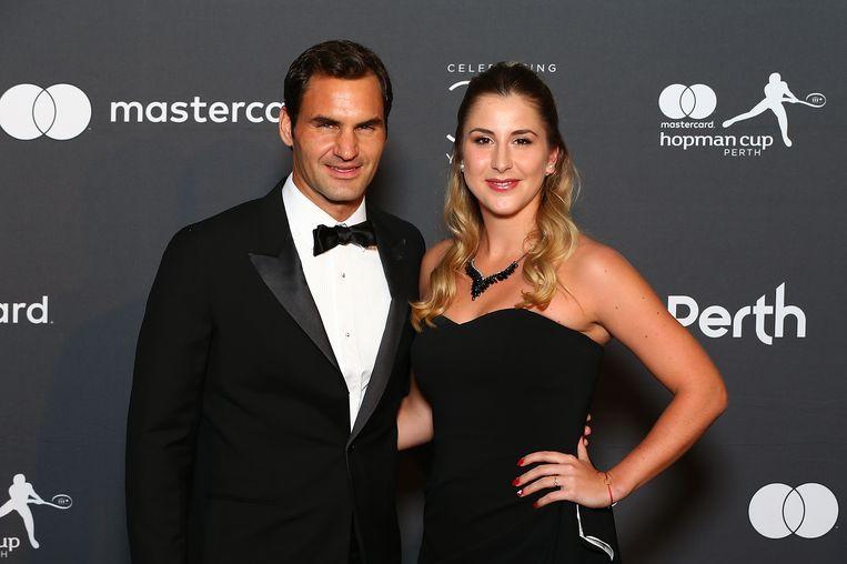 Roger Federer vormt een duo met Belinda Bencic.