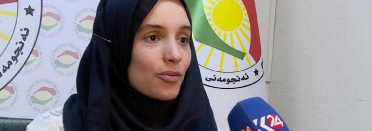 Laura H. op Iraaks-Koerdische tv-zender Kurdistan 24. Beeld