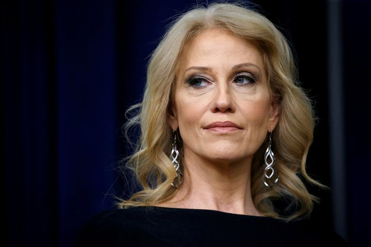 FILE PHOTO: White House counsellor Kellyanne Conway takes part in a forum called Generation Next at the Eisenhower Executive Office Building in Washington, U.S., March 22, 2018. REUTERS/Leah Millis/File Photo