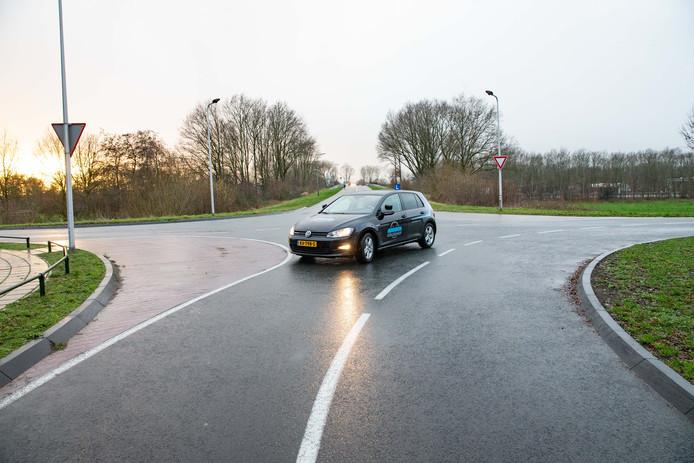 De kruising Wubbenlaan - Viaductweg in Staphorst