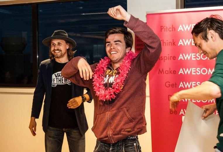De eerste winnaar van 1000 euro: Mathijs Thissen. Beeld Bete Photography
