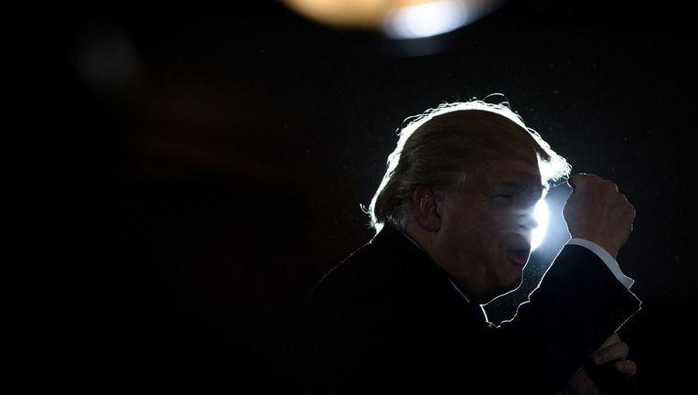 Donald Trump tijdens een verkiezingsbijeenkomst in West Chester, Ohio. Beeld afp