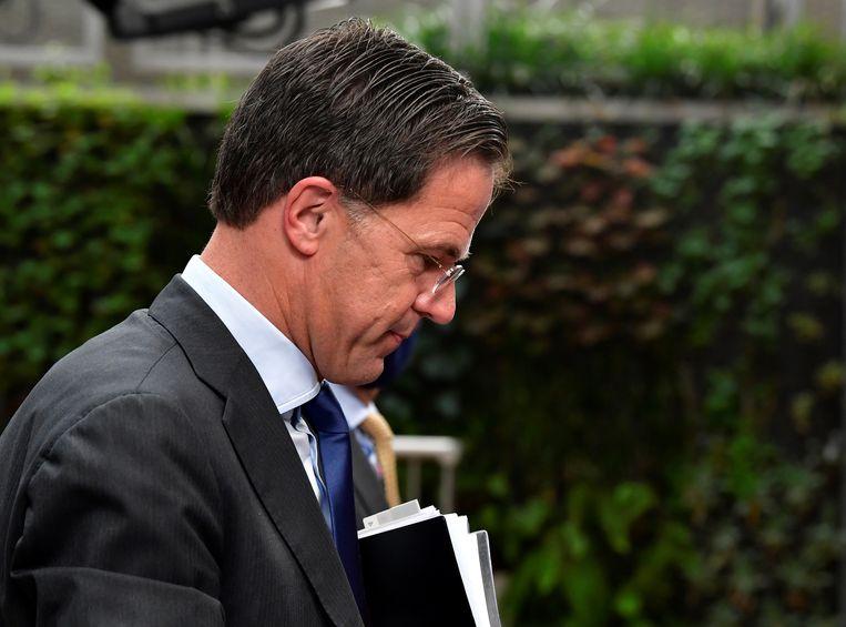 Mark Rutte in Brussel. Beeld Reuters