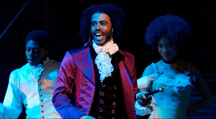 Daveed Diggs als Thomas Jefferson  in Hamilton.