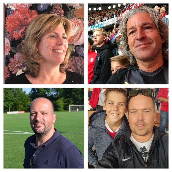 De fans van FC Twente en Heracles