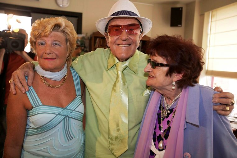 Eddy Wally met zijn dochter Marina en vrouw Mariette