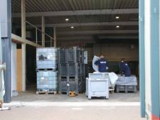 Ontmanteling drugslaboratorium in Ede onder strenge bewaking begonnen
