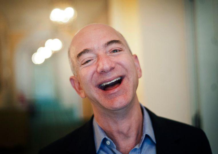 Jeff Bezos, de grote baas van Amazon.
