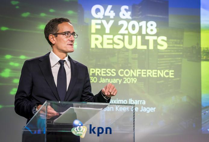 Huidige KPN-ceo Maximo Ibarra die de strategie ontwikkelde waarbij KPN zich voortaan richt op het gelijknamige hoofdmerk. Dat betekent het einde voor Telfort en XS4All