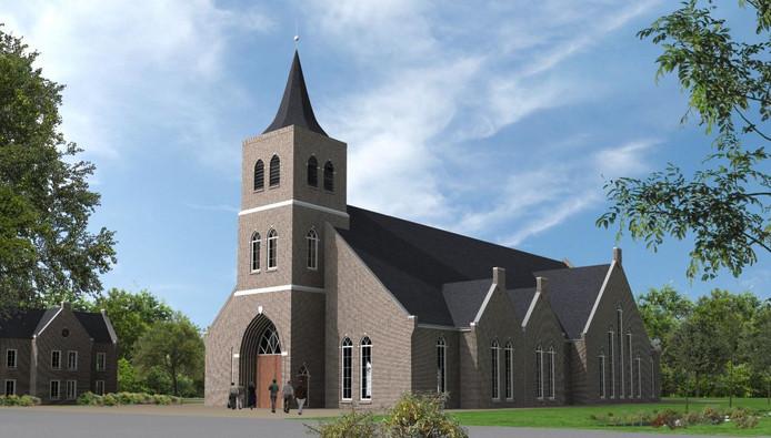 Impressie van de nieuwe kerk.