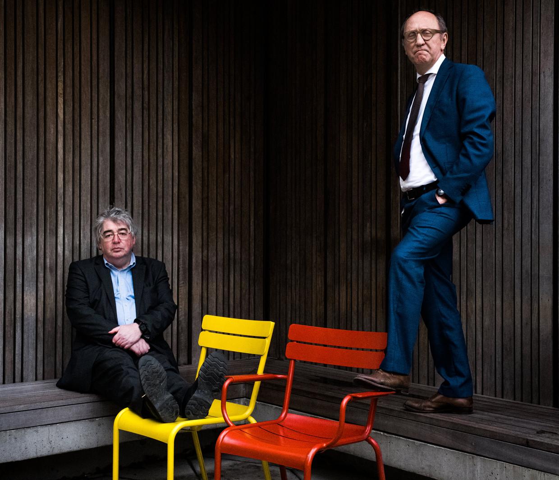 Hendrik Vuye en Johan Vande Lanotte. Vuye: 'Mocht N-VA samen met Vlaams Belang in de oppositie terechtkomen, dan zal vooral Vlaams Belang daarvan profiteren.'