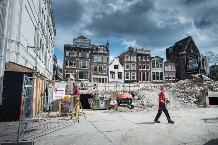 De huidige bouwplaats Beeld Mats van Soolingen/Het Parool