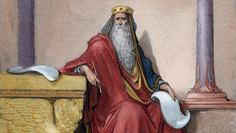 Koning Salomo, gravure van Gustave Doré (1832-1883). Beeld Getty