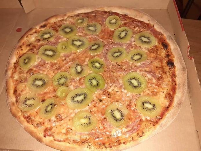 La fameuse pizza au coeur du débat.