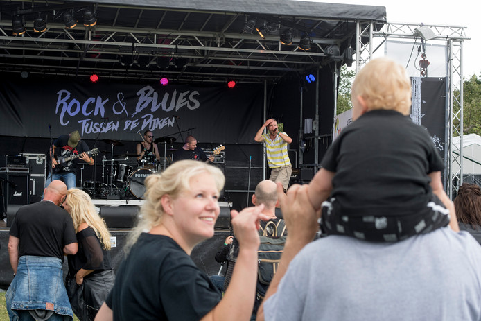Tiel 14/07/2019 Festival Tussen de Dijken optreden Deposit jong en oud publiek genieten iov Gelderlander foto Raphael Drent