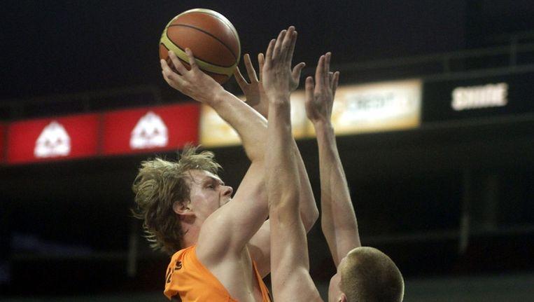 Robin Smeulders, in actie namens Nederland. Beeld epa