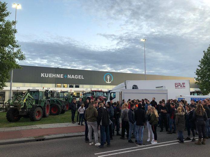 Protesterende boeren in Veghel