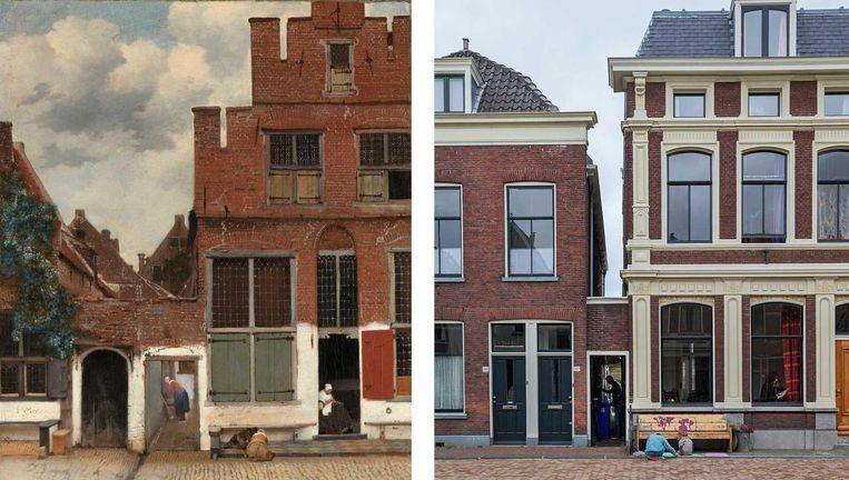 Het straatje van Vermeer blijkt niet de Delftse Vlamingstraat te zijn Beeld anp