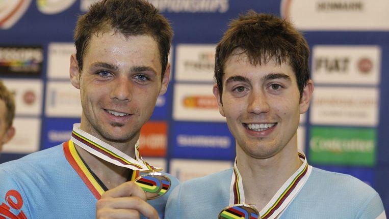 Ingmar De Poortere (l) won met Steve Schets brons in Denemarken.