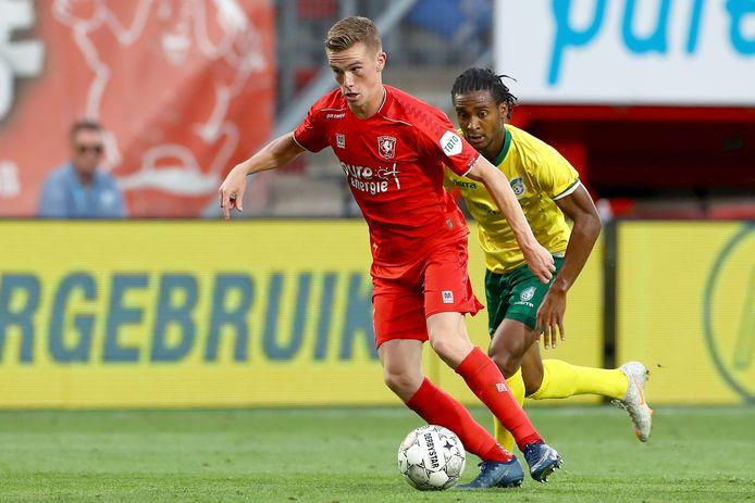 Daan Rots maakte de tweede goal voor FC Twente.