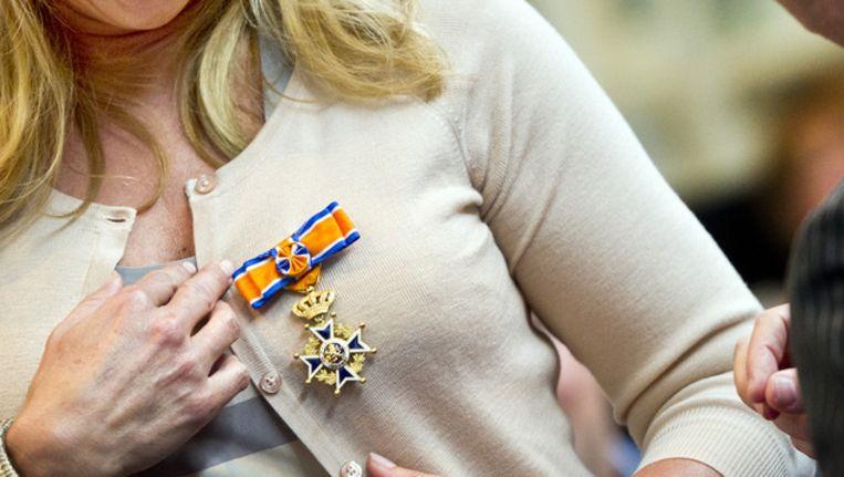 Linda de Mol kreeg vorig jaar ook een lintje. Beeld anp