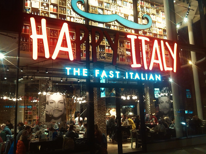 Een vestiging van Happy Italy.