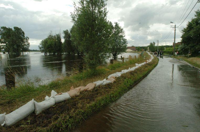 De straten van het industrieterrein liepen in het verleden meermaals onder water.