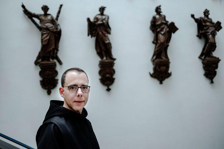 Thomas Quartier: 'Ik heb mijn liefde, mijn intimiteit met anderen, nog nooit zo intensief beleefd als sinds ik in het klooster woon.' Beeld Merlin Daleman