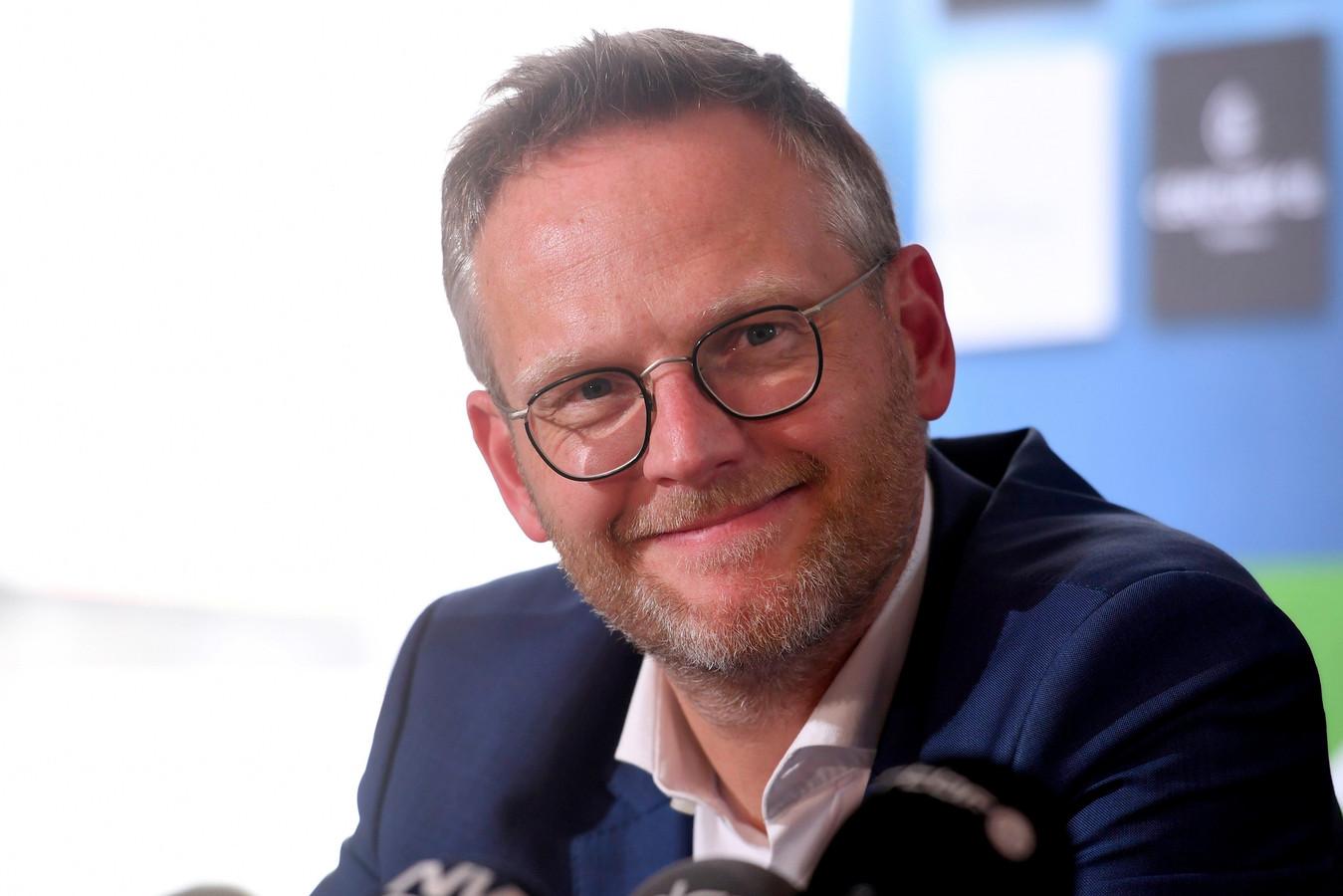 Peter Croonen lors d'une conférence de presse, le 22 mai 2019.