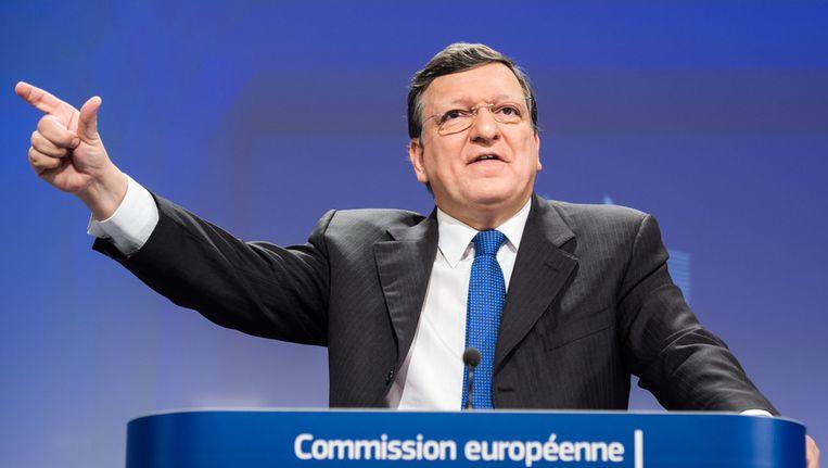 De huidige voorzitter van de Europese Commissie José Barroso Beeld ap