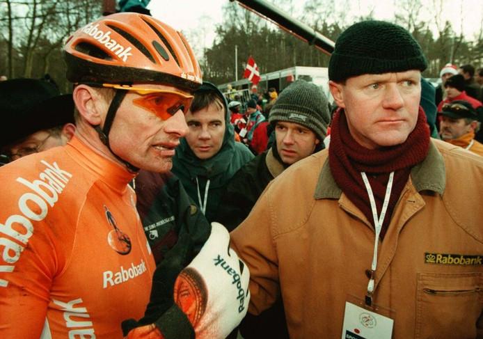 Adrie van der Poel (links) in 1998.