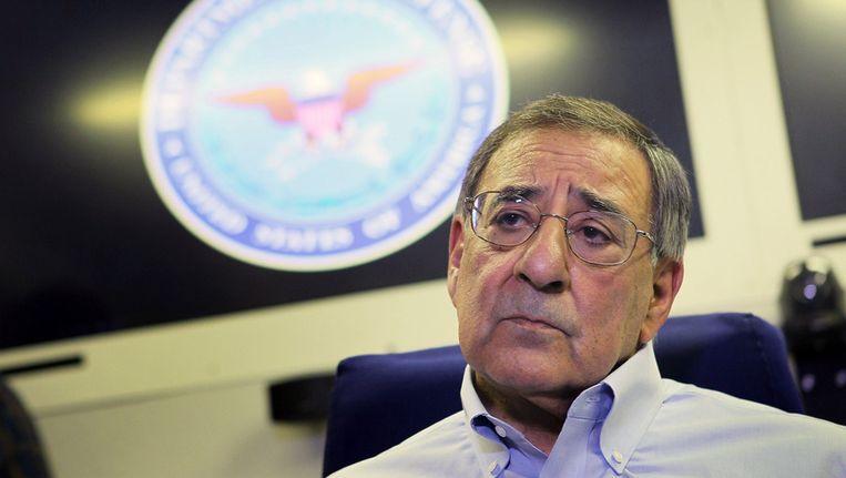 De Amerikaanse minister van Defensie Leon Panetta beantwoordt vragen over de moordpartij van een Amerikaanse militair in Afghanistan. Beeld null